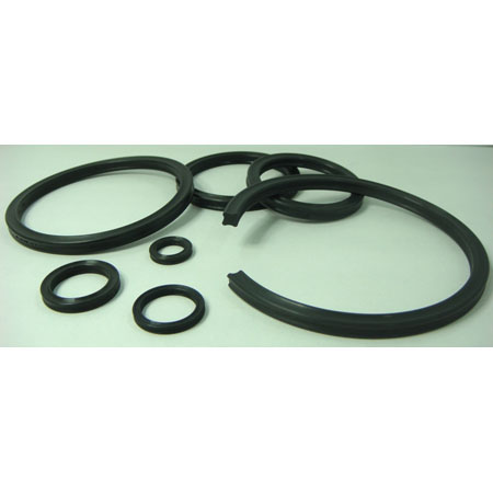 Rubber sealing gasket - Hydraulic X-ring 0001